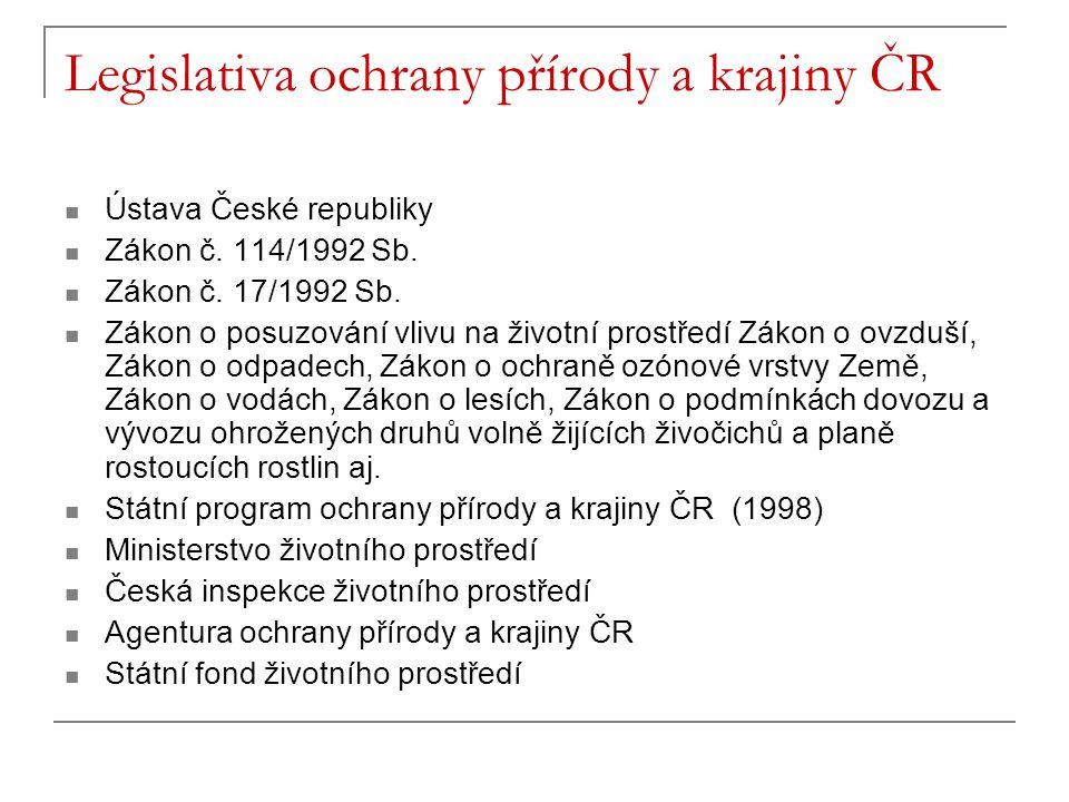 Legislativa ochrany přírody a krajiny ČR