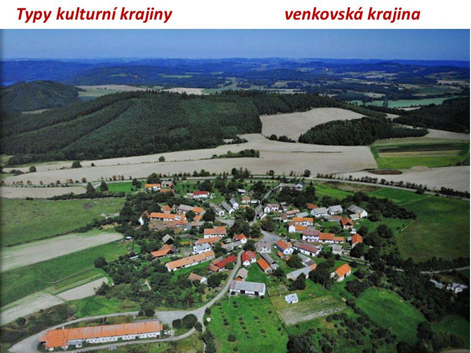 venkovská krajina Typy kulturní krajiny