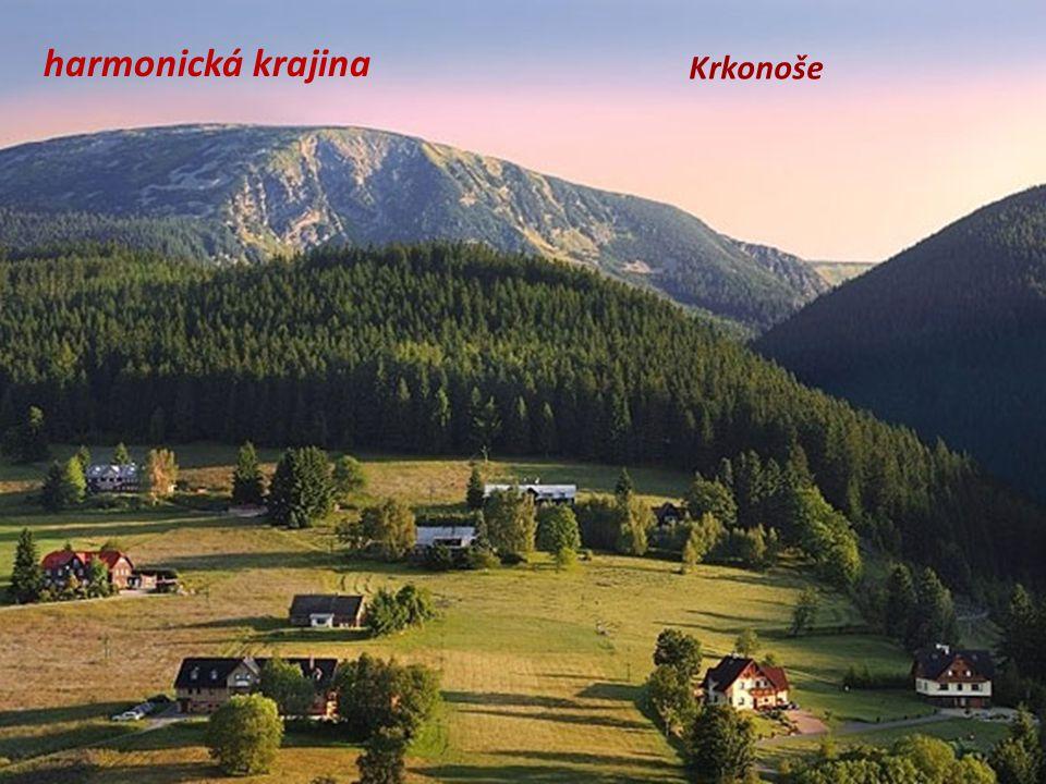 harmonická krajina Krkonoše
