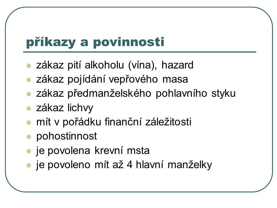 příkazy a povinnosti zákaz pití alkoholu (vína), hazard