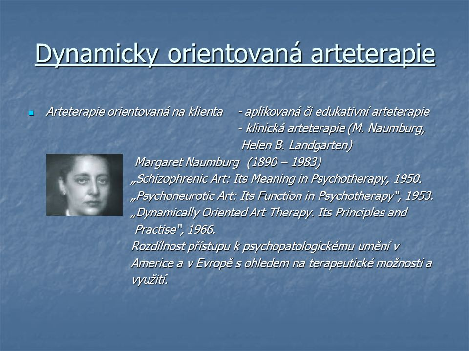 Dynamicky orientovaná arteterapie
