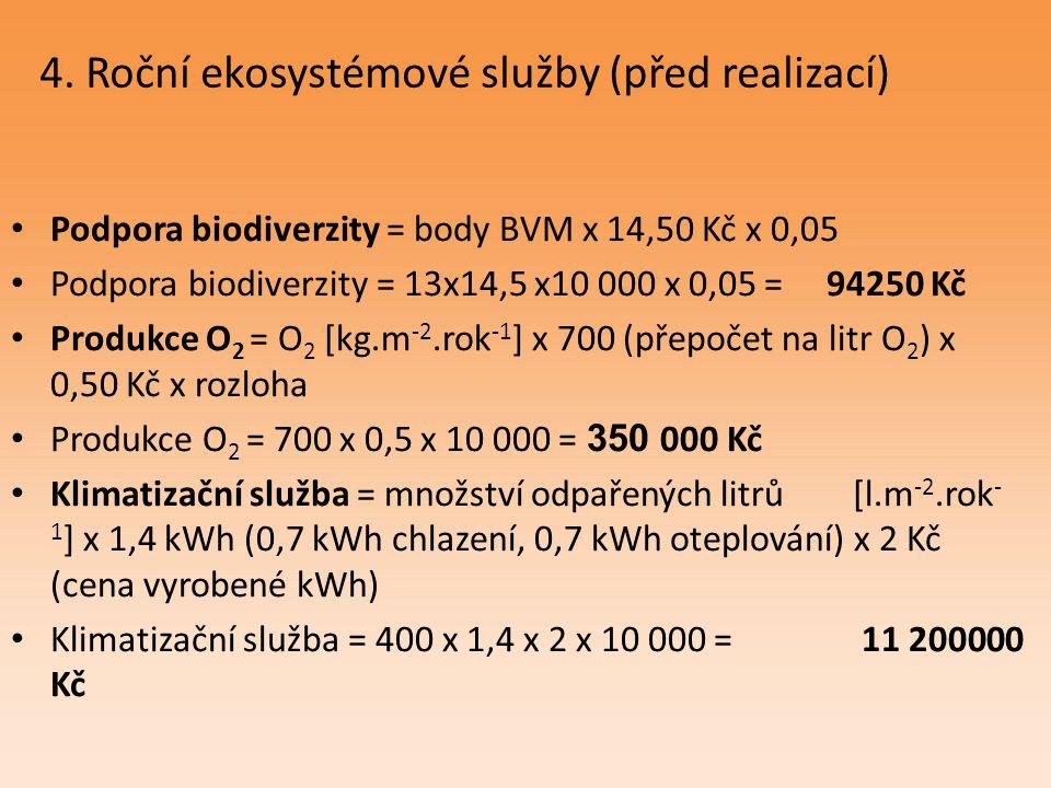 4. Roční ekosystémové služby (před realizací)