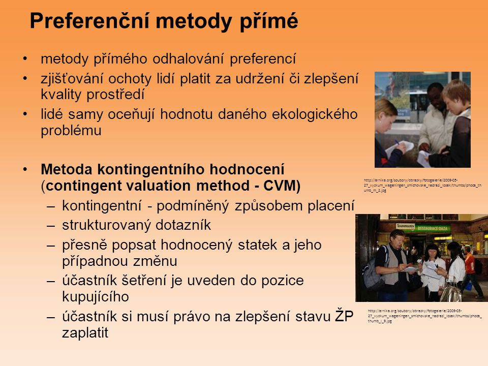 Preferenční metody přímé