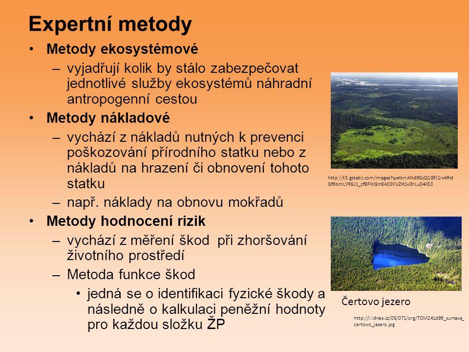 Expertní metody Metody ekosystémové