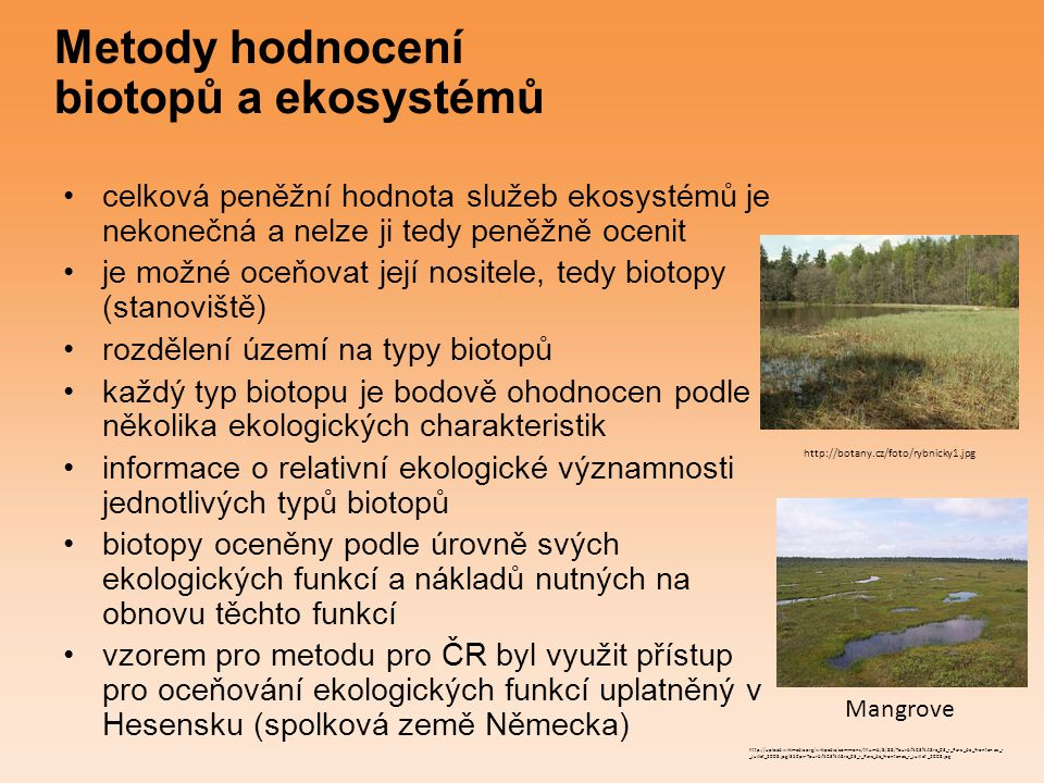 Metody hodnocení biotopů a ekosystémů