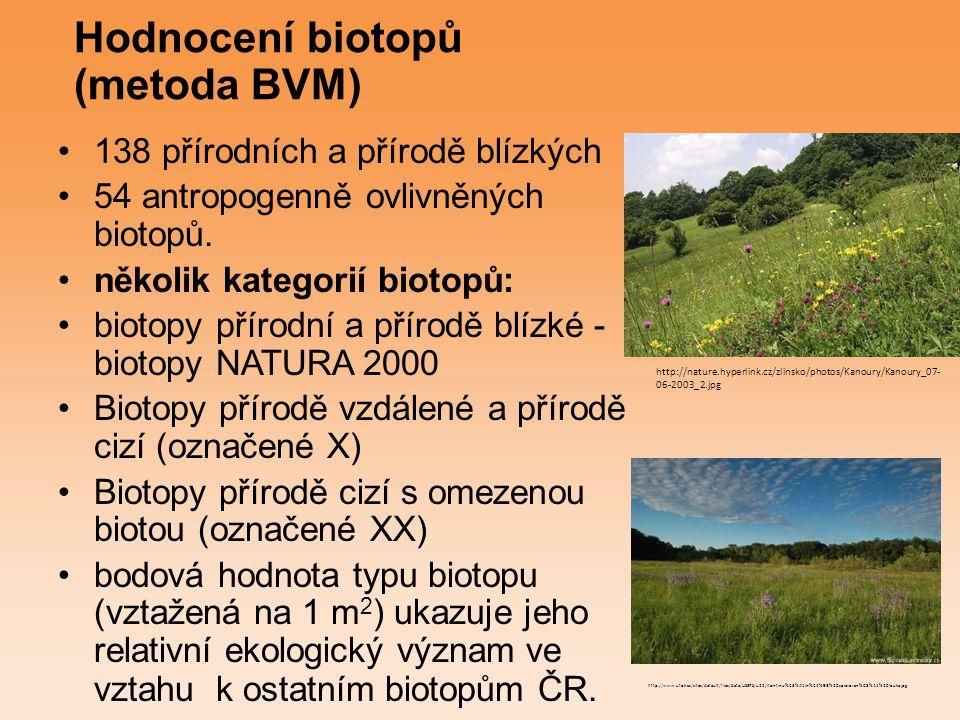 Hodnocení biotopů (metoda BVM)
