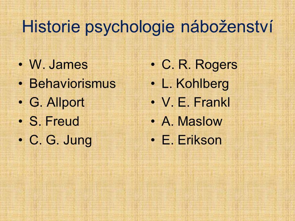 Historie psychologie náboženství