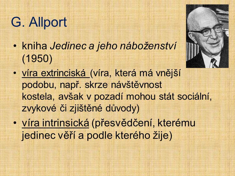 G. Allport kniha Jedinec a jeho náboženství (1950)