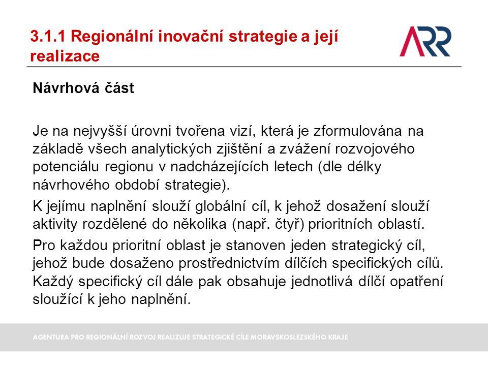 3.1.1 Regionální inovační strategie a její realizace