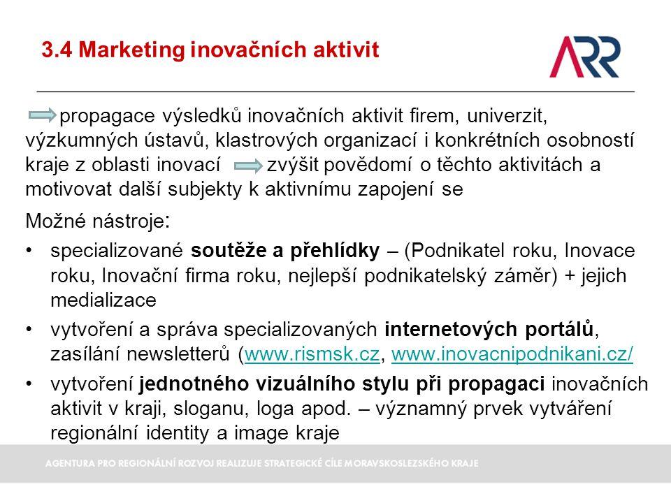 3.4 Marketing inovačních aktivit