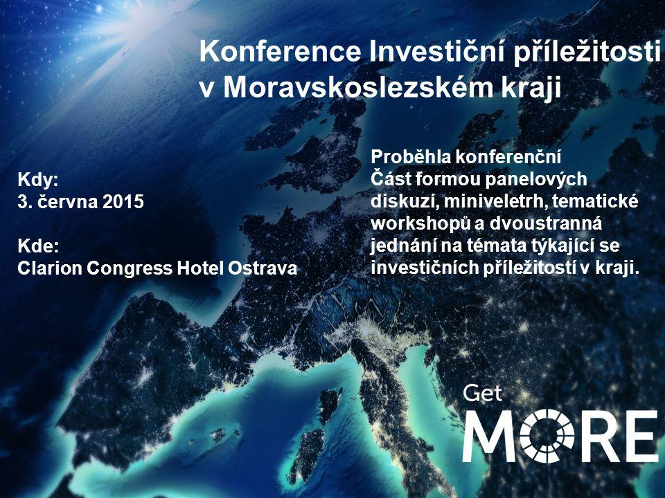 Konference Investiční příležitosti v Moravskoslezském kraji