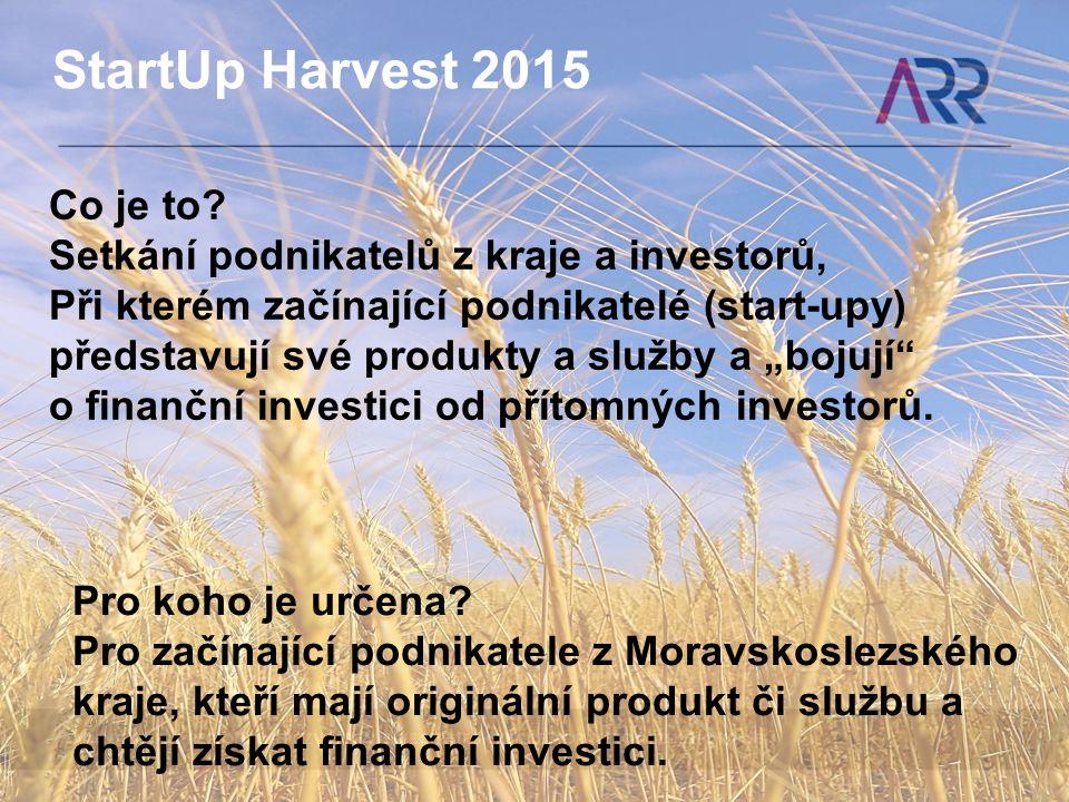 StartUp Harvest 2015 Co je to