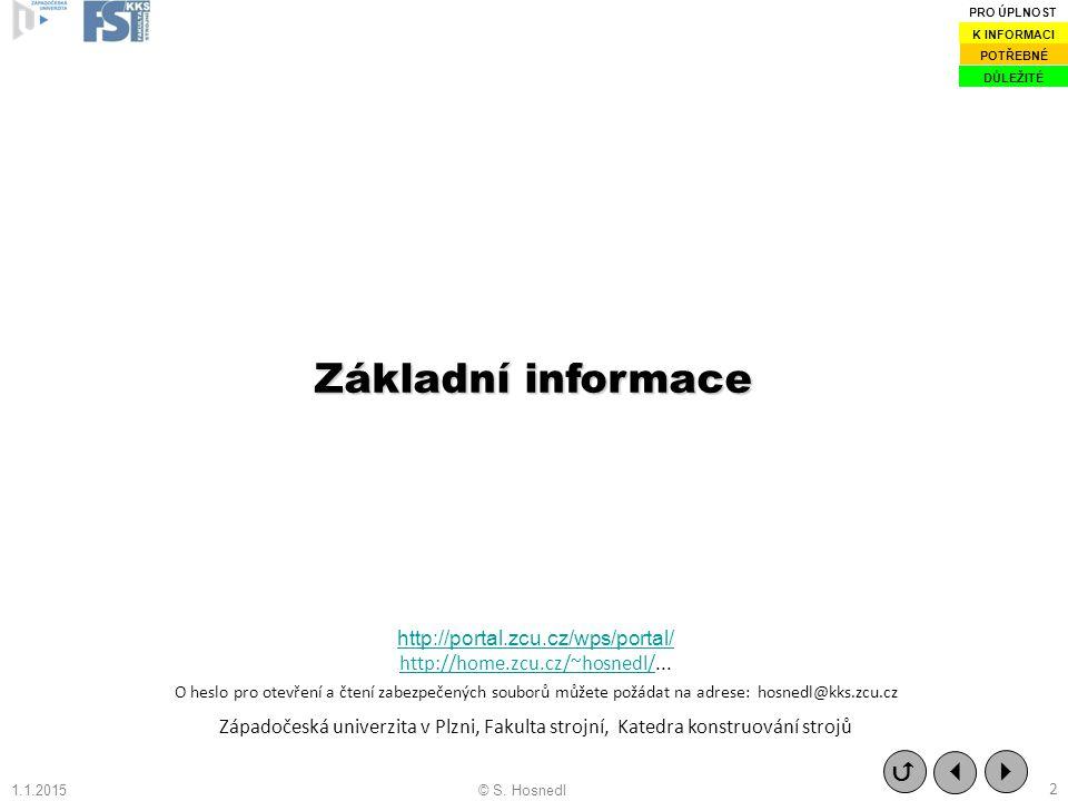 Základní informace   http://portal.zcu.cz/wps/portal/