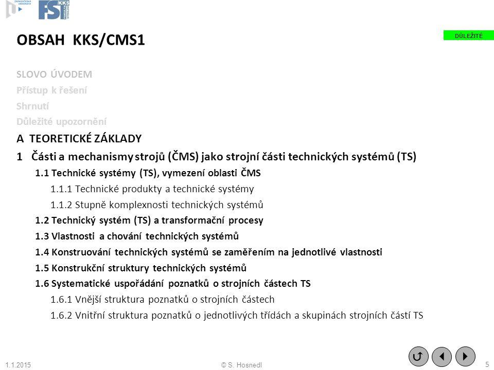 OBSAH KKS/CMS1 A TEORETICKÉ ZÁKLADY