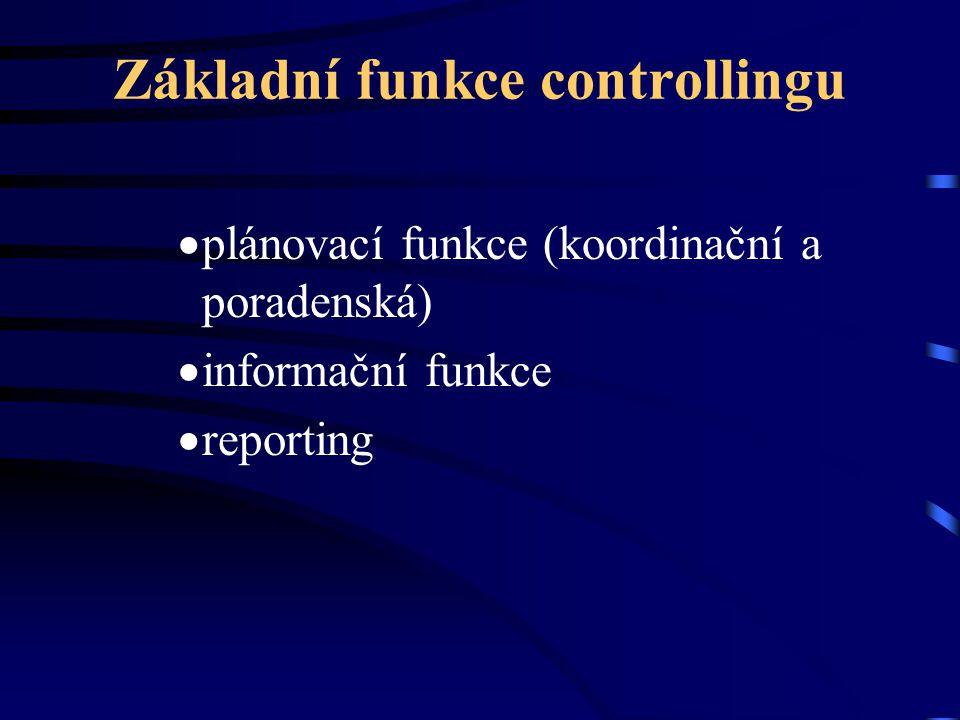 Základní funkce controllingu