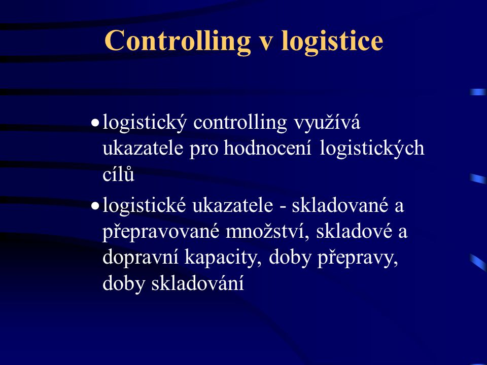Controlling v logistice