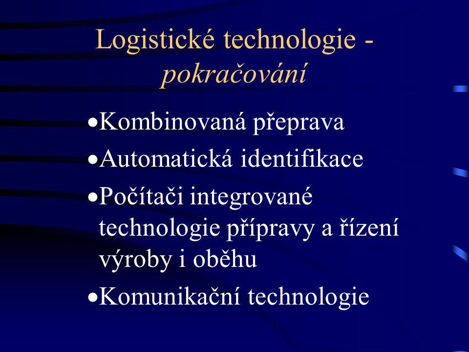 Logistické technologie - pokračování