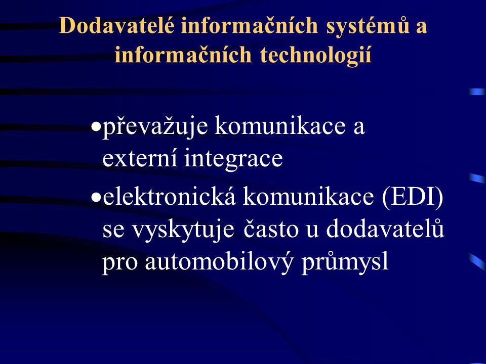 Dodavatelé informačních systémů a informačních technologií