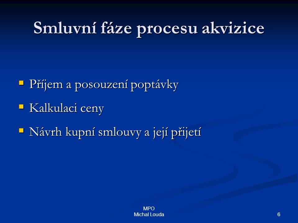 Smluvní fáze procesu akvizice