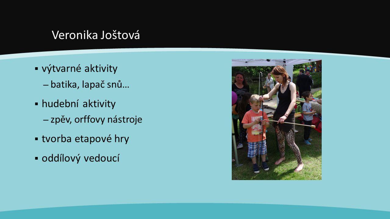 Veronika Joštová výtvarné aktivity hudební aktivity tvorba etapové hry