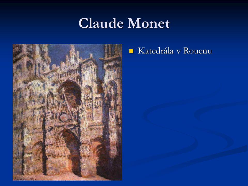 Claude Monet Katedrála v Rouenu