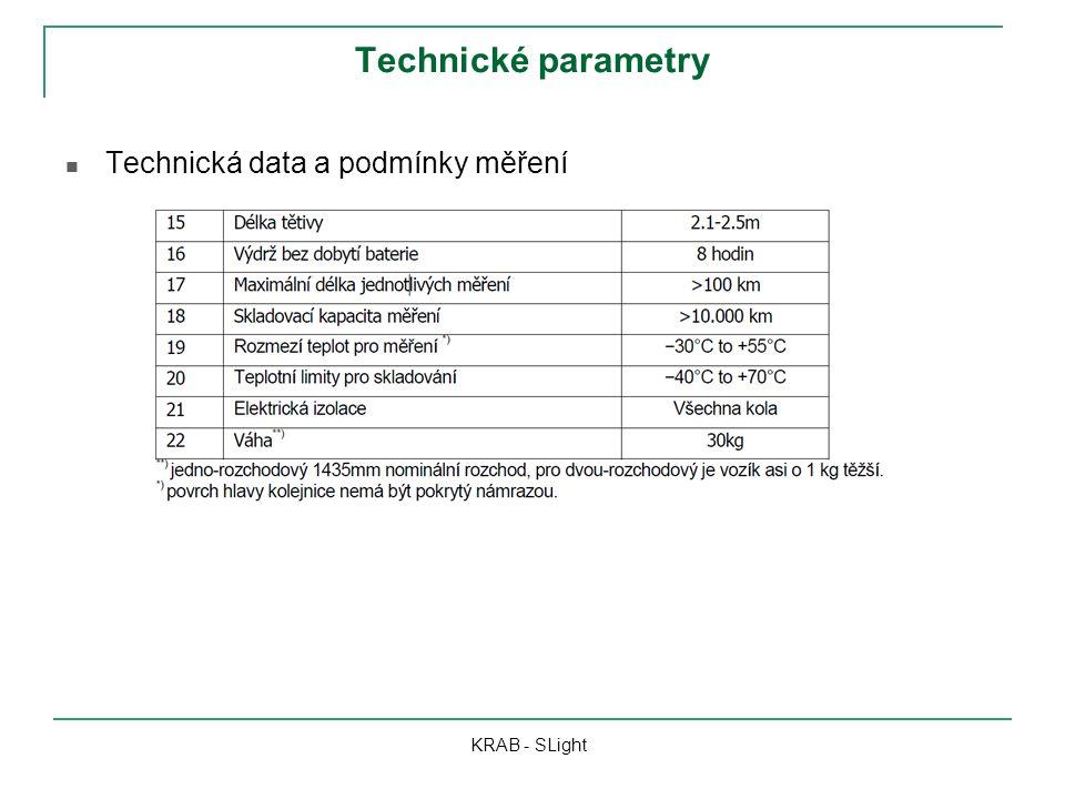 Technické parametry Technická data a podmínky měření KRAB - SLight
