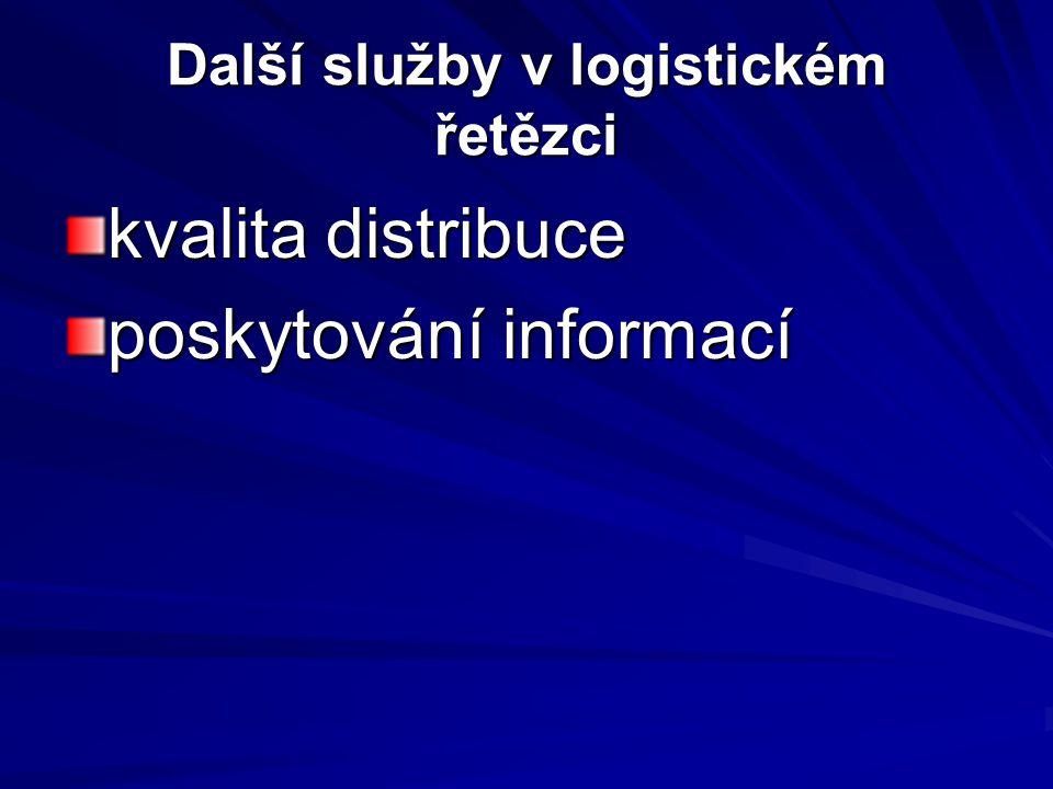 Další služby v logistickém řetězci