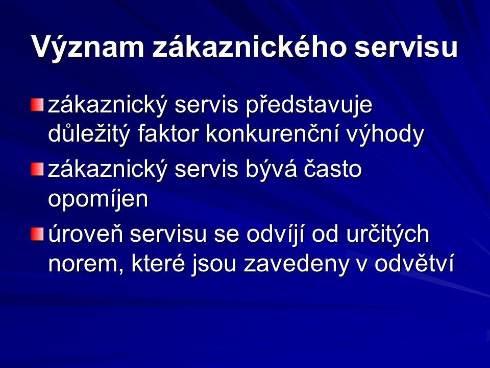 Význam zákaznického servisu