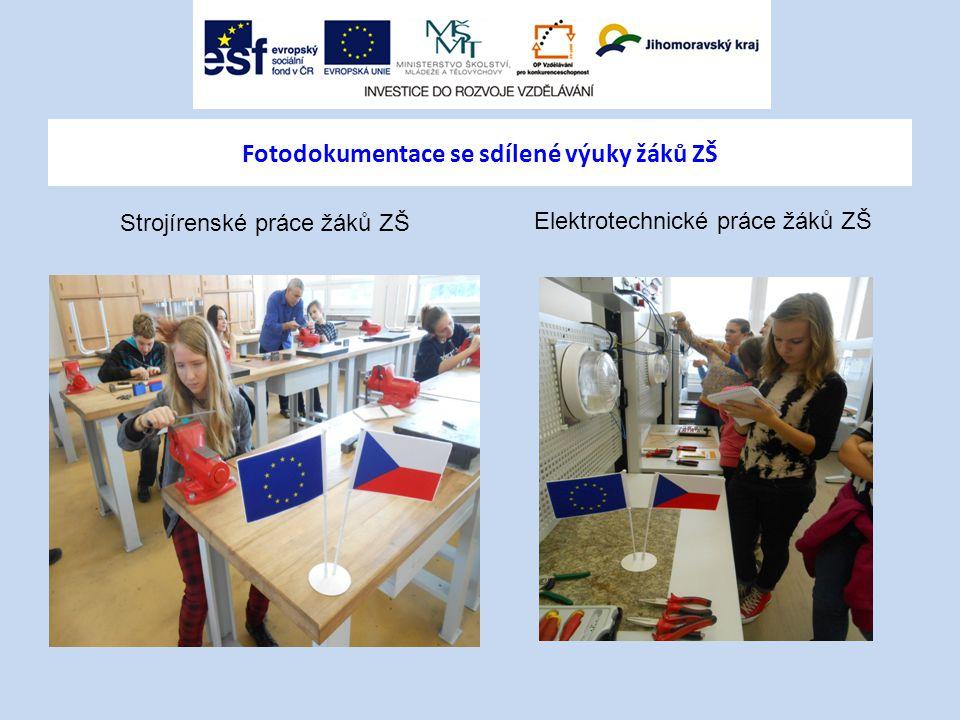Fotodokumentace se sdílené výuky žáků ZŠ