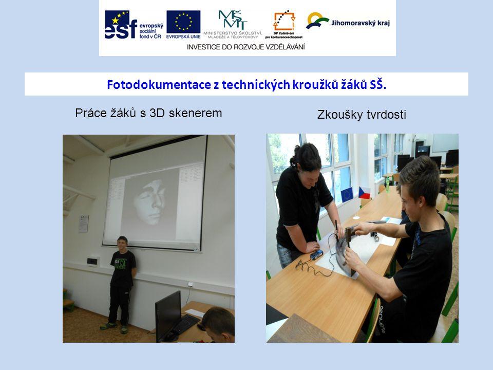 Fotodokumentace z technických kroužků žáků SŠ.