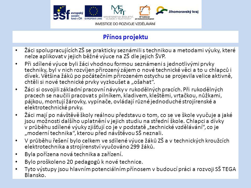 Přínos projektu