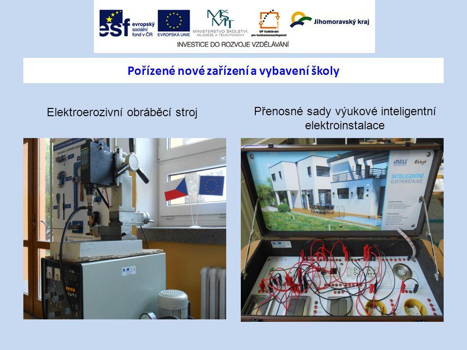 Pořízené nové zařízení a vybavení školy
