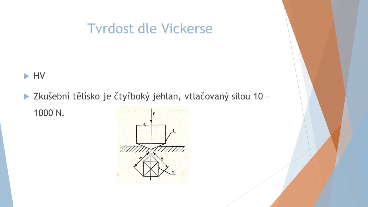 Tvrdost dle Vickerse HV