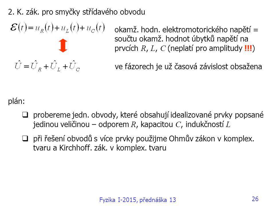 2. K. zák. pro smyčky střídavého obvodu