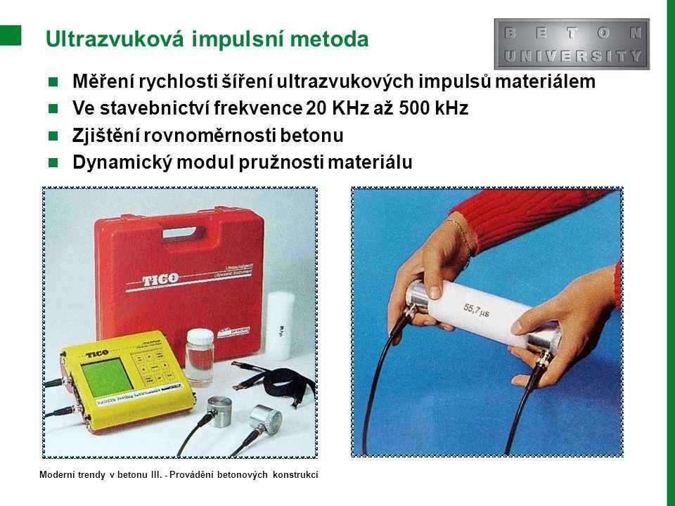 Ultrazvuková impulsní metoda