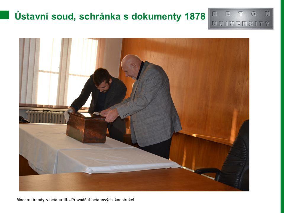 Ústavní soud, schránka s dokumenty 1878