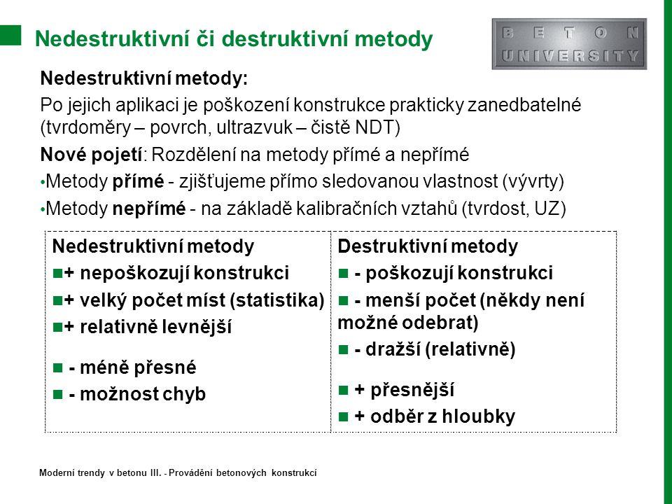 Nedestruktivní či destruktivní metody