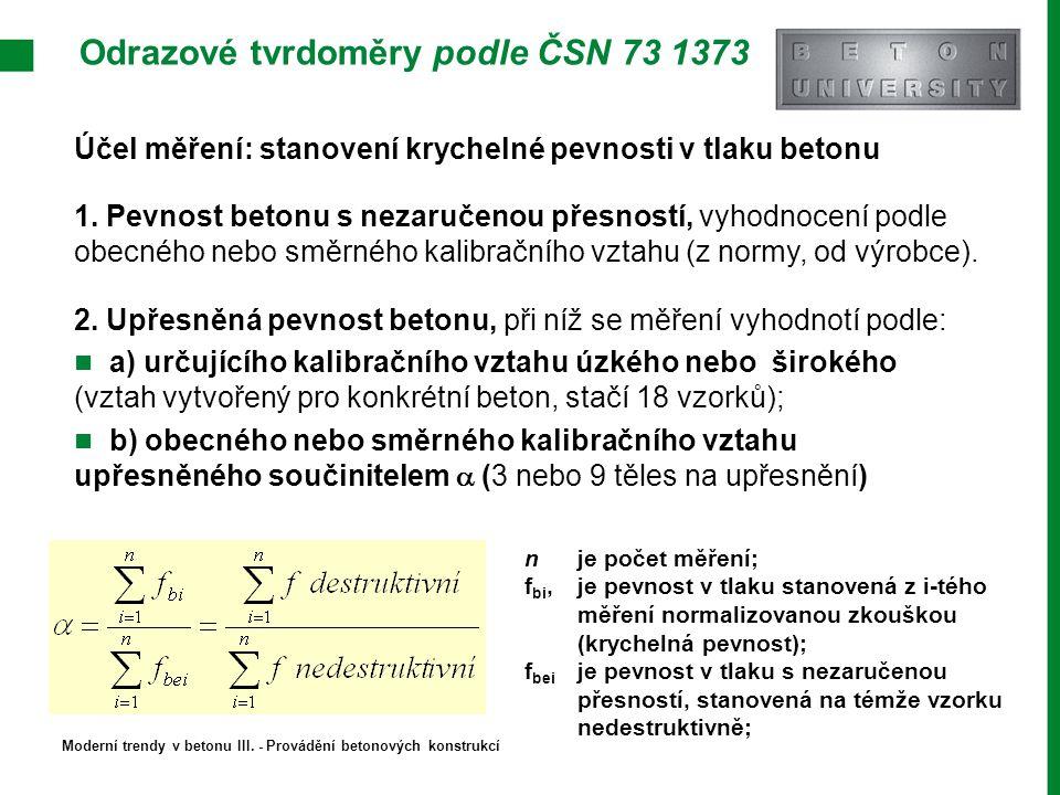 Odrazové tvrdoměry podle ČSN 73 1373