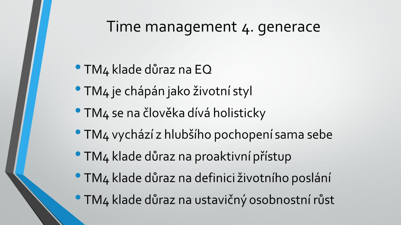 Time management 4. generace