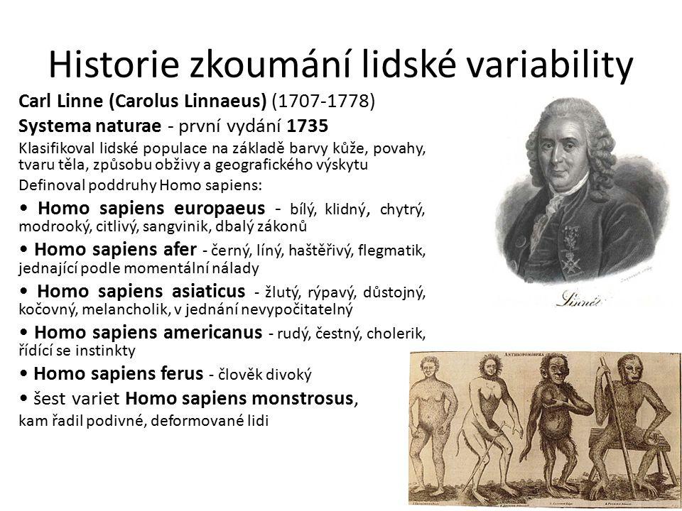 Historie zkoumání lidské variability