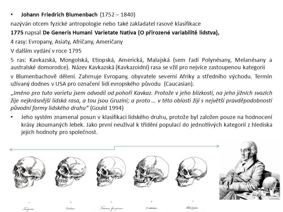 Johann Friedrich Blumenbach (1752 – 1840)