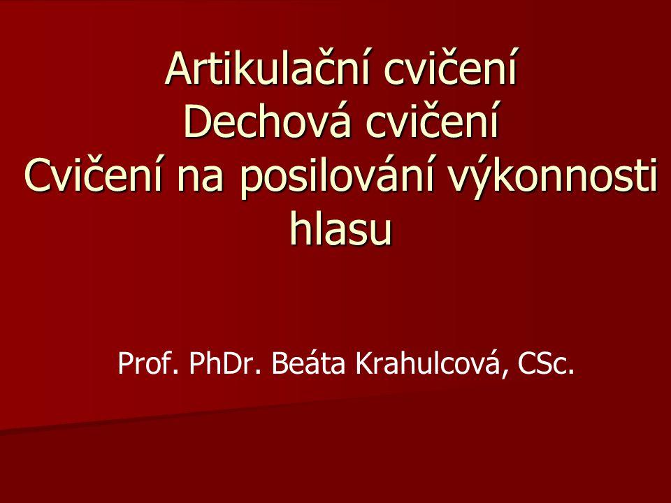 Prof. PhDr. Beáta Krahulcová, CSc.