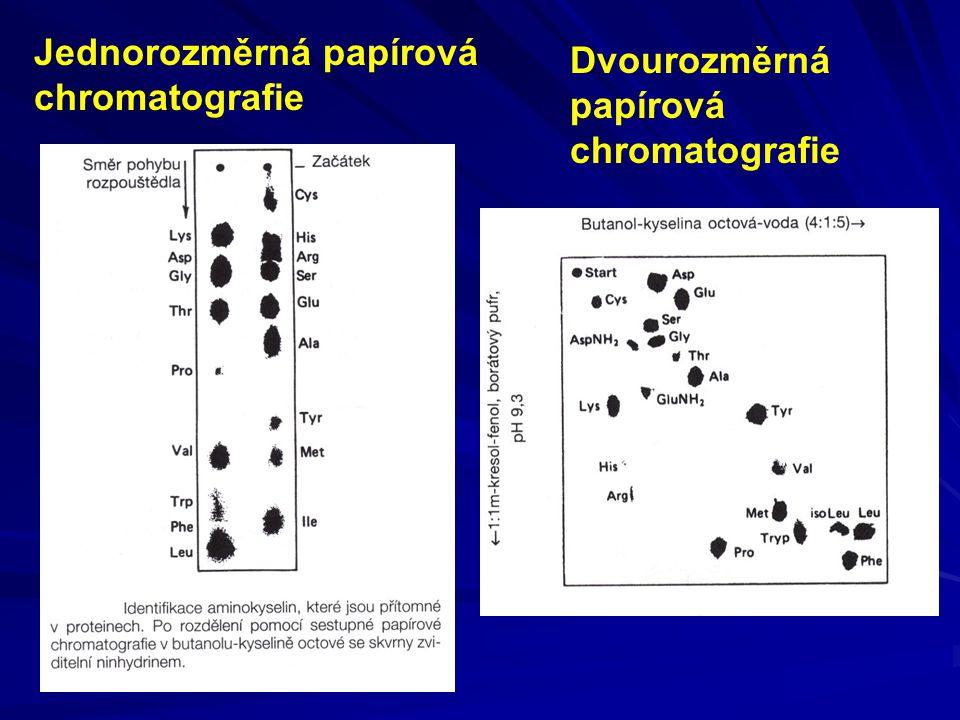 Jednorozměrná papírová chromatografie