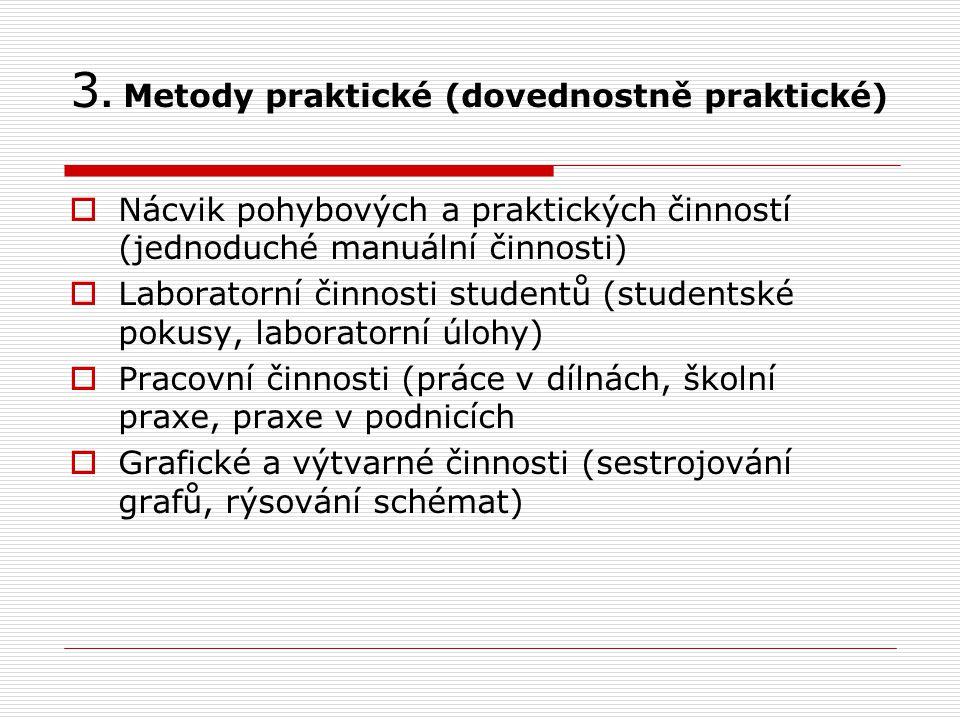 3. Metody praktické (dovednostně praktické)