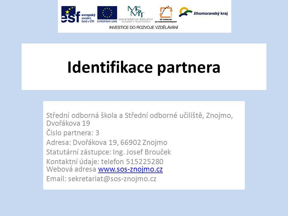 Identifikace partnera