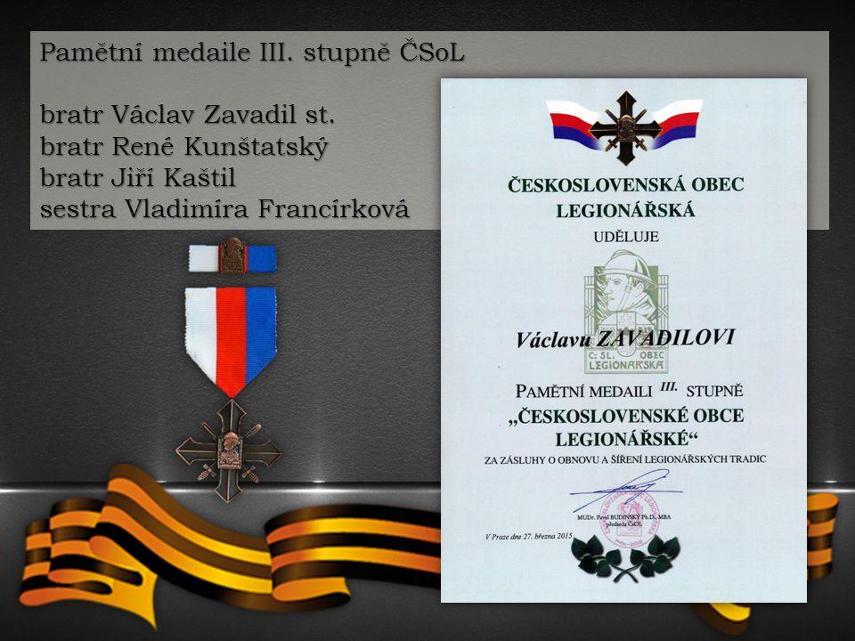 Pamětní medaile III. stupně ČSoL