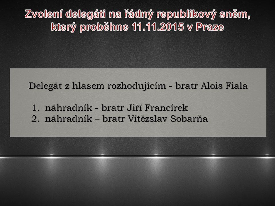 Zvolení delegáti na řádný republikový sněm,