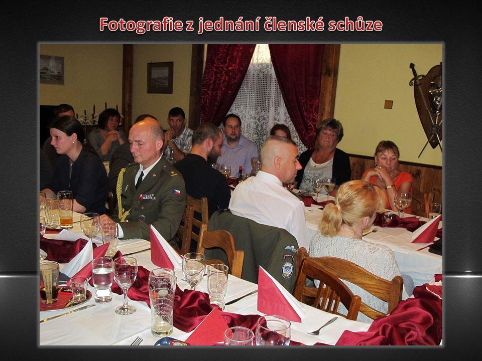 Fotografie z jednání členské schůze