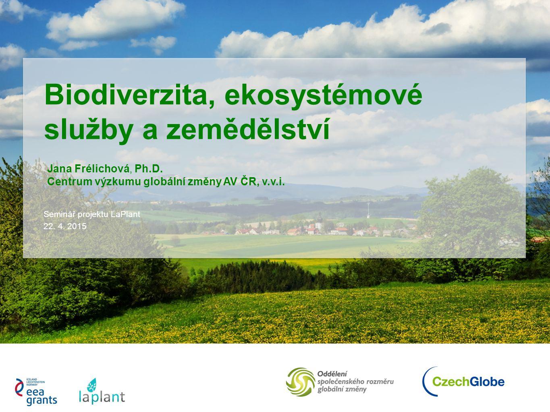 Biodiverzita, ekosystémové služby a zemědělství