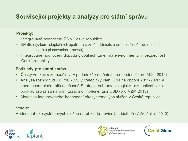 Související projekty a analýzy pro státní správu
